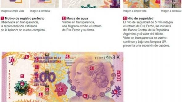 Sacarán de circulación los billetes de 100 pesos con la imagen de Roca