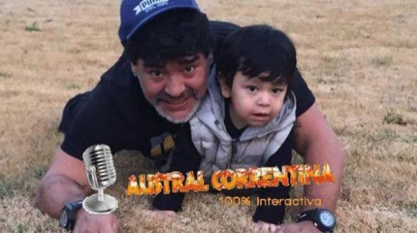 El reencuentro de Maradona y su hijo
