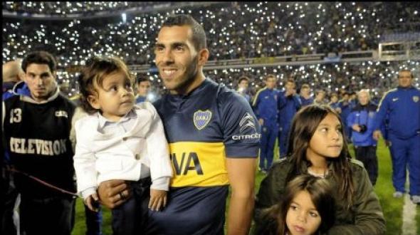 Histórica bienvenida de Boca a Carlos Tevez