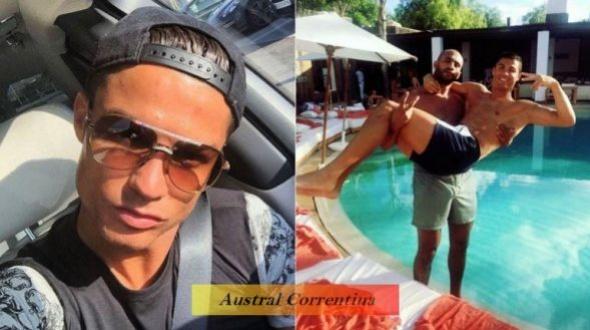 """El viaje """"secreto"""" de Ronaldo para celebrar Año Nuevo con su musculoso amigo"""