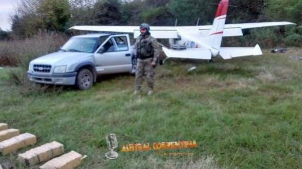 Avioneta interceptada en Villa Urquiza llevaba más de 300 kilos de droga