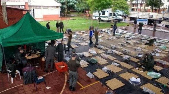 Gendarmería secuestró más de 4 toneladas de droga sobre la Ruta 14