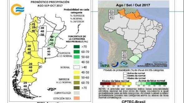 Escenarios hidrológicos para agosto-septiembre y octubre