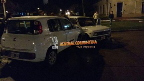 Accidente entre dos automóviles