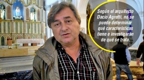 """Hallazgo en la Catedral de Goya: """"El pozo tiene más de 150 años"""""""