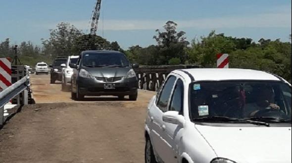 Quedó habilitado el tránsito sobre el arroyo Guazú