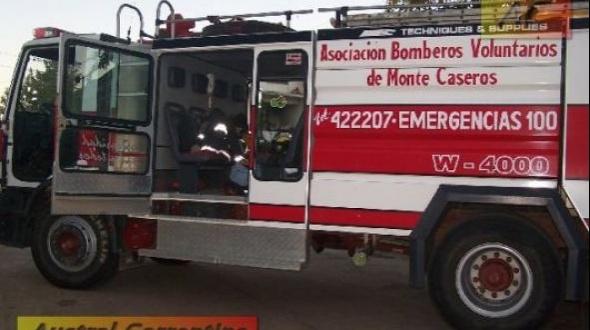 Incendio en la banquina de ruta 129