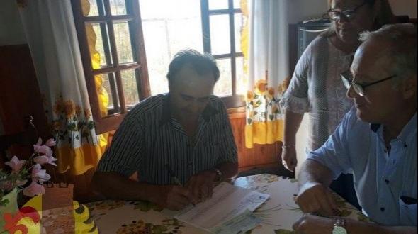 Labougle: El intendente recorrió obras y entregó subsidio