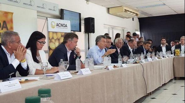 Reunión de la mesa citrícola nacional con la presencia de Macri