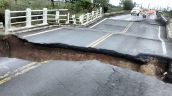 Garantizaron obras en la Ruta 14 y ratificaron la instalación de un puente Bailey en la 19