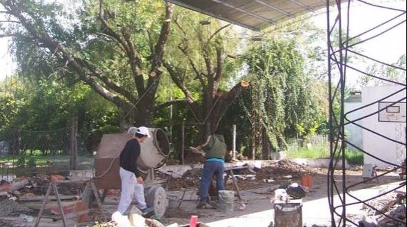 Escuela 646: Nuevo techo y tinglado