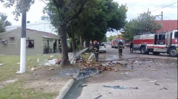 Explotó una bomba abandonada cerca de la Plaza de los Constituyentes