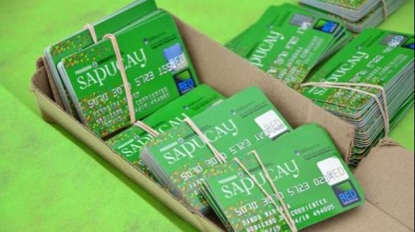 Desde hoy están habilitadas las tarjetas Sapucay