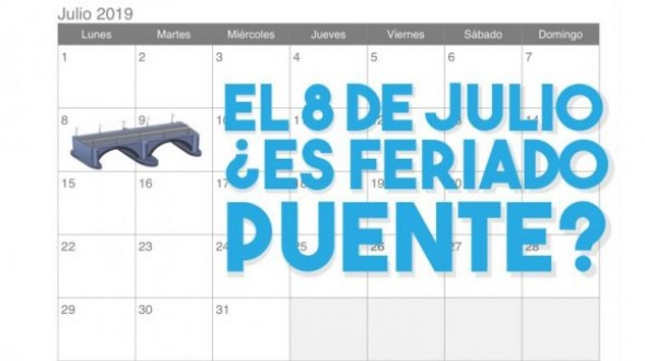 El martes 9 de Julio es feriado, pero, ¿qué pasa con el lunes 8?