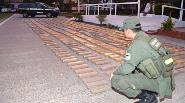 Gendarmería Nacional incautó 776 kilos de marihuana en Itatí