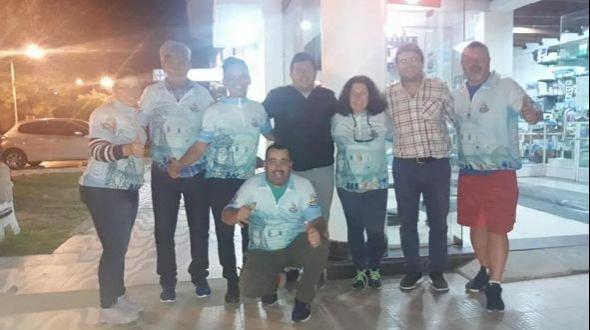 Entrega de remeras a Ciclistas Montecasereños