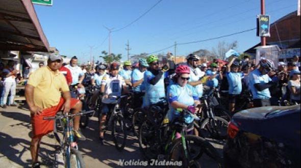 Llegaron los peregrinos de Itá Ibaté, Berón de Astrada y ciclistas de Monte Caseros