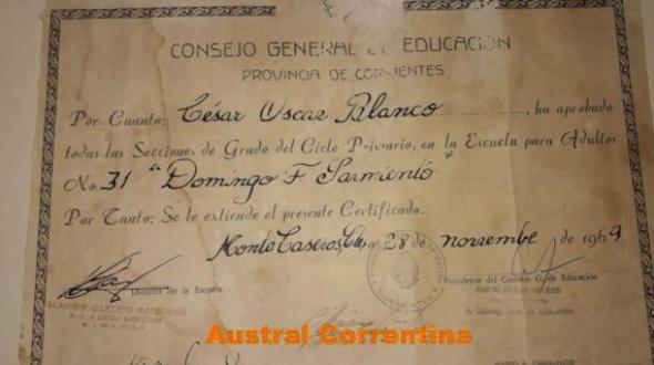 Hace 50 años no pudo recibir su certificado. El viernes se lo entregarán