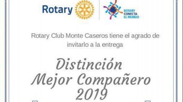 Rotary Club: Entrega de reconocimientos a los mejores compañeros