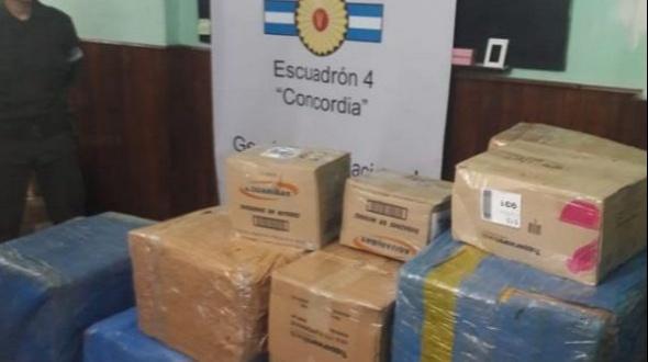 El Escuadrón 4 Concordia de Gendarmería Nacional secuestró más de 30 kilos de marihuana