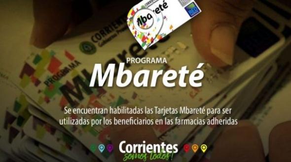 Habilitaron las tarjetas Mbareté y Mamá Mbareté