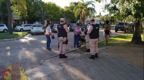 Continuaron los controles en las calles de Monte Caseros