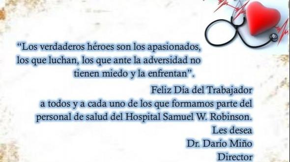 Hospital Robinson: Saludos por el día del trabajador