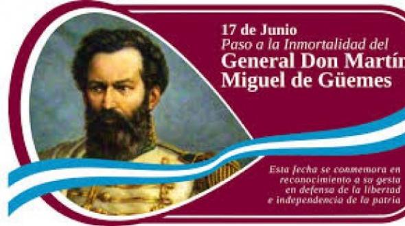 Aniversario del paso a la inmortalidad de Martín Miguel de Güemes