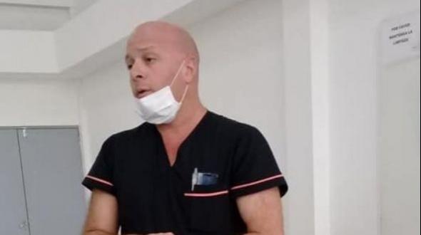 Hombre de más de 70 años derivado con un cuadro respiratorio al hospital de Campaña