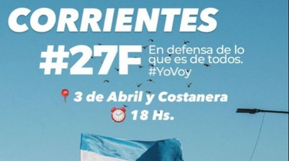 Convocan a un banderazo en Corrientes