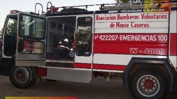 Incendio de una casilla en el Barrio San Ramón Sur