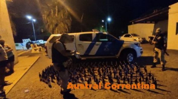Prefectura secuestró 240 botellas de fernet