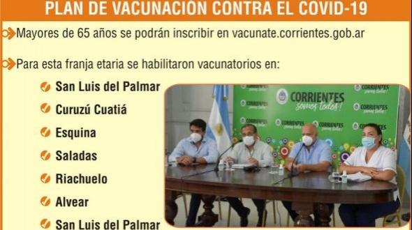 Unos 120 mil adultos correntinos en la lista de la deseada inmunización