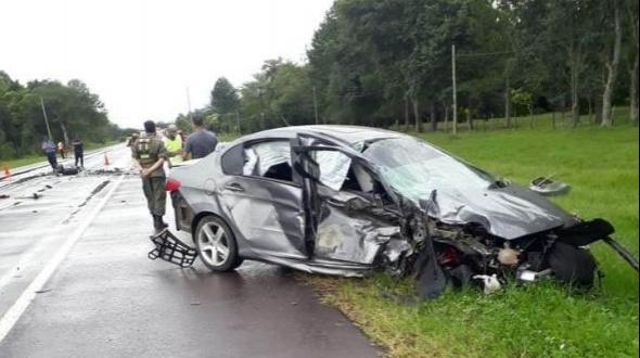 Choque frontal dejó un muerto y un herido grave sobre Ruta 12