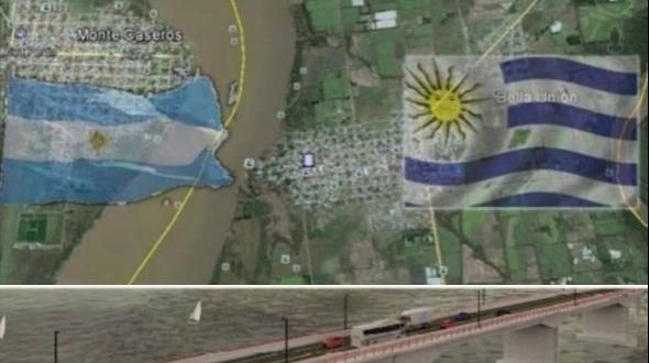Lacalle Pou reafirmó su compromiso con la construcción de puente Monte Caseros - Bella Unión