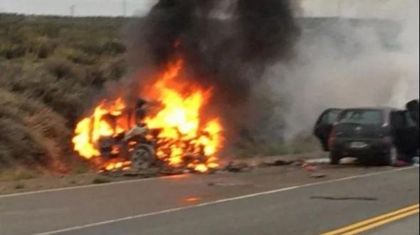 Un joven correntino murió tras protagonizar tremendo choque frontal en Río Negro