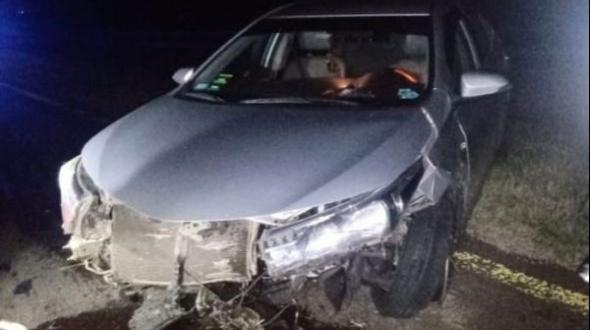 Autovía 14: despistó un automóvil e impactó con los guardarrail