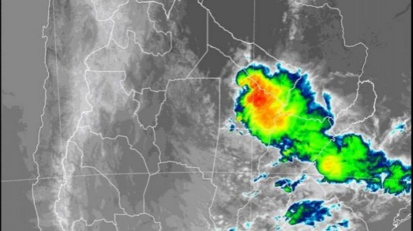 Alerta por fuertes tormentas y ráfagas en varias localidades